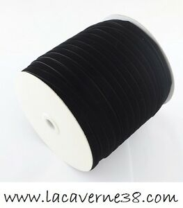 1-3-10m-Ruban-satin-velours-noir-larg-6-5mm-galon-creation-bijoux-perle-mercerie