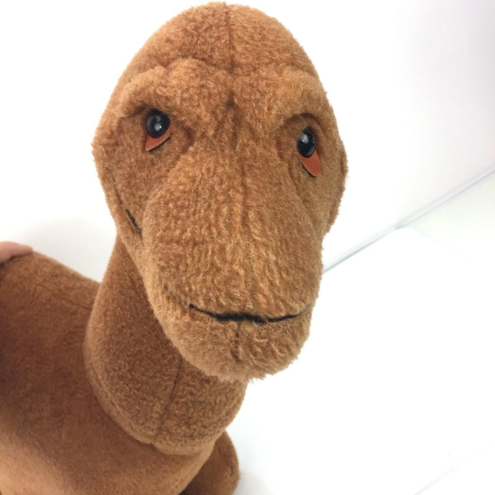 RARE 24  Vtg Lrg Animal Fair Plush Stuffed Dinosaur Brown Dino Toy  tall