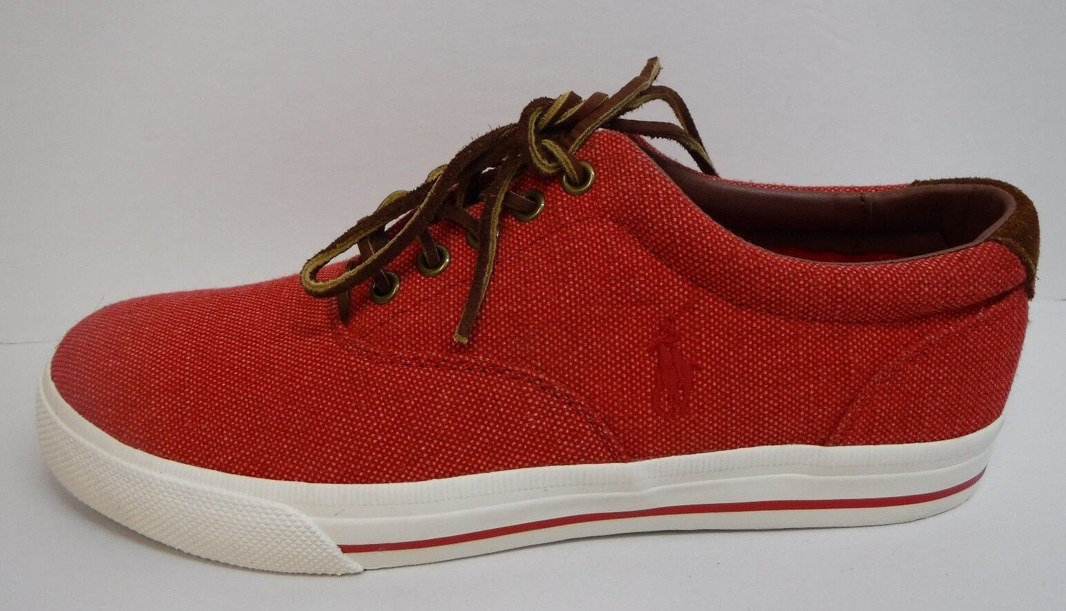 Polo Ralph Lauren Size 8 Red Sneakers New Mens shoes
