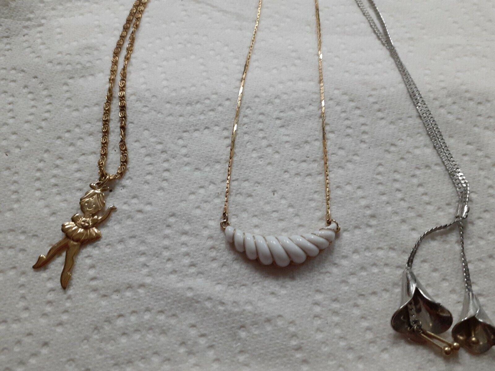 Avon Blue Necklace Lot Blue Medallion Necklace Sets of 2 Necklaces Earthtones Blue Medallion Necklace Set Vintage Avon Purple Blue Brown