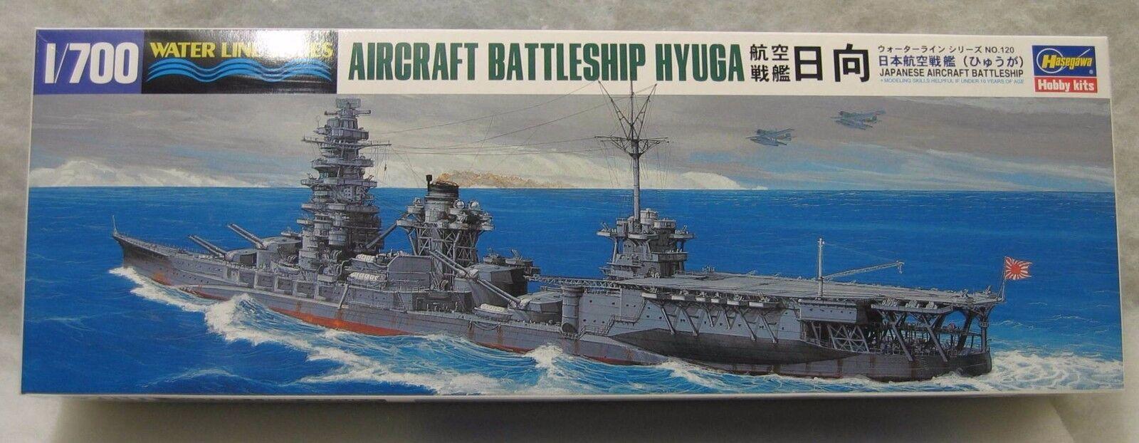 HASEGAWA 1 700 I.J.N. HYUGA AIRCRAFT BATTLESHIP WATERLINE KIT
