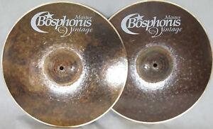 "Bosphorus Master Vintage 14"" Hihat Becken Top 800g 1000g / Piatto Cymbale Cymbal"