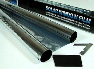 "FILM TINTING MEDIUM SMOKE 25/% CAR WINDOW TINT ROLL 3M x 75CM 9/'10/"" x 2/'6"
