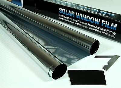 SILVER MIRROR 15/% CAR HOME VAN BUS WINDOW TINT FILM TINTING 2x 3m ROLL 6m x 76cm