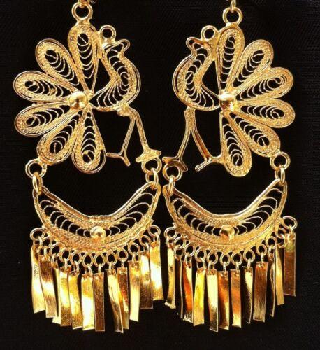 Mexican Filigree Earrings Handmade From Oaxaca Style#L2903 Aretes de Filigrana.