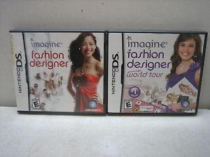 Nintendo Ds Imagine Fashion Designer And World Tour Games Complete Ebay