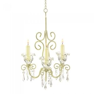 HOME-LIGHTING-DECOR-SHABBY-ELEGANCE-CANDLE-CHANDELIER-DISTRESSED-FINISH