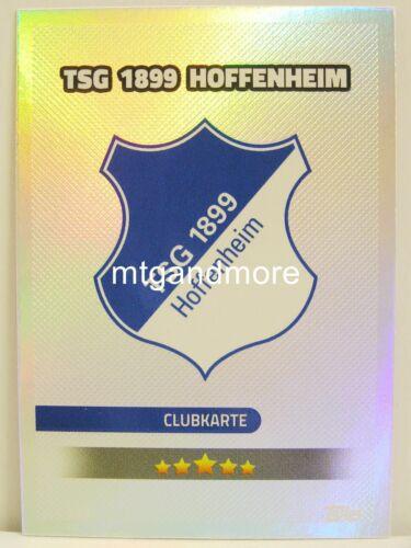 Match ATTAX 2016//17 championnat #333 tsg 1899 Hoffenheim-carte//BLASON