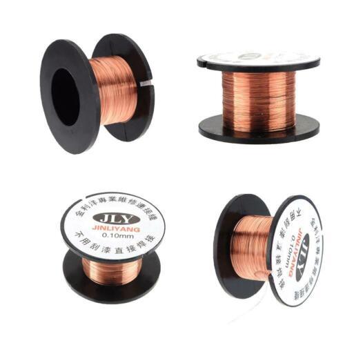5X 0.1MM Copper Soldering Solder PPA Enamelled Repair Reel Wire high quality