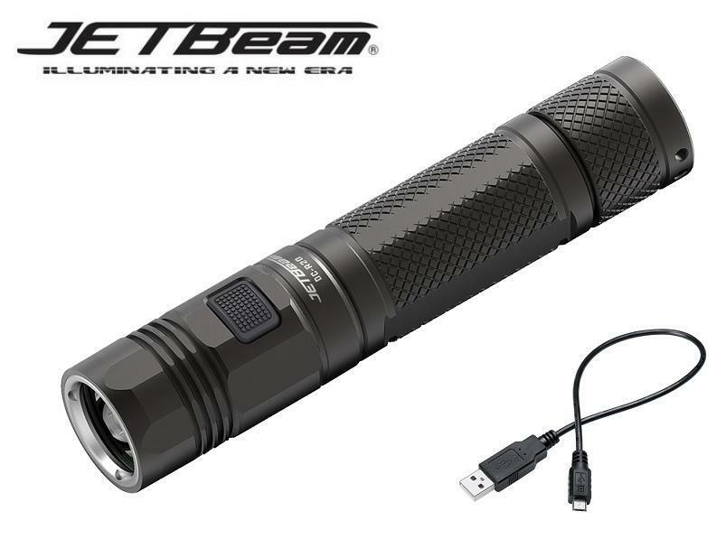 New Jetbeam DC-R20 Cree XP-L 1200 Lumens USB Charge LED Flashlight ( 18650 )