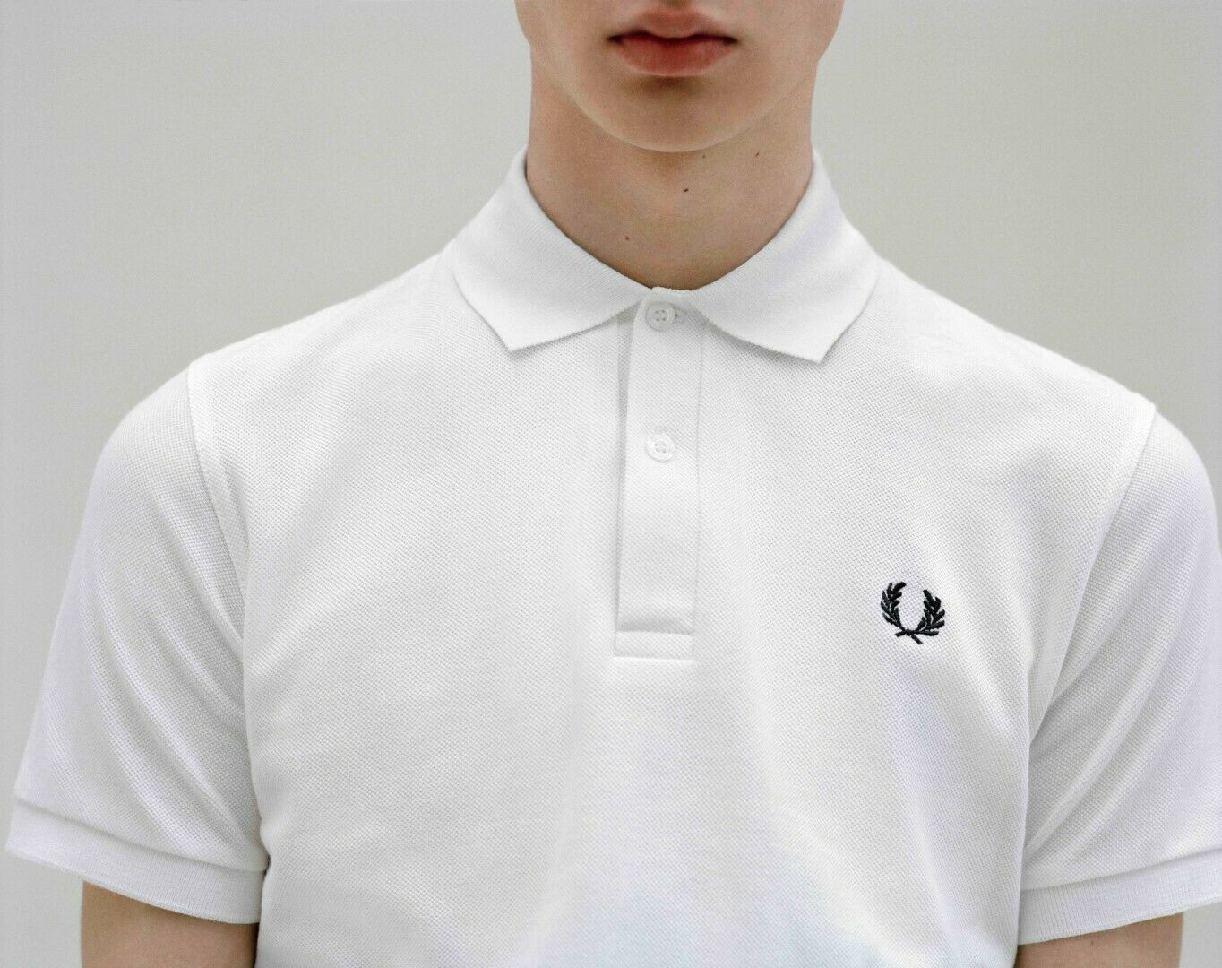 FRED PERRY REISSUES M3 POLOSHIRT MADE IN ENGLAND  DESC WHITE MODS CASUALS SUBCUL