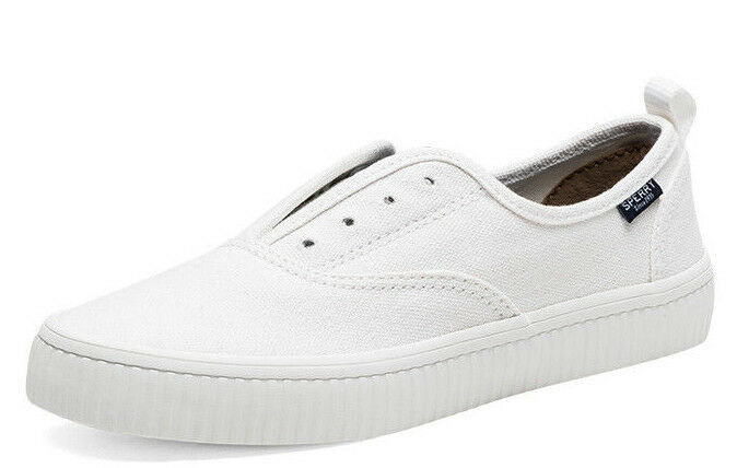 Sperry Top-sider femmes Basket blanc Crest Creeper Mémoire Mousse Sz 6 - 9.5 Nib