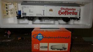 ROCO-4339B-Carro-frigorifero-2-assi-Ibbhs-DB-GTUTTGARTER-HOFBRAU
