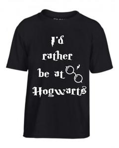 Kids T-Shirt Harry Potter I/'d rather be at Hogwarts