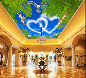3D Angle Sky 5 Ceiling WallPaper Murals Wall Print Decal Deco AJ WALLPAPER AU