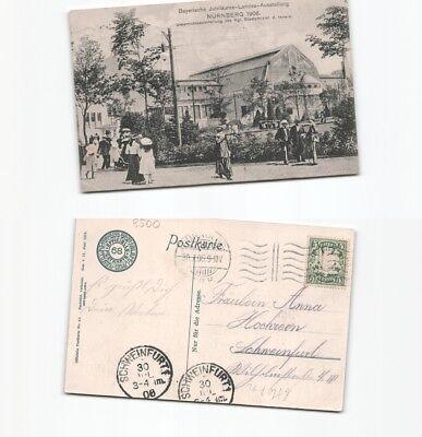 (b80712) Ansichtskarte Landesausstellung Nürnberg 1906 , Nach Schweinfurt Eine GroßE Auswahl An Farben Und Designs