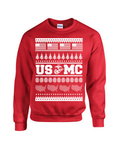 Usmc Ugly Sweater Design American Flag Christmas Unisex Crew Sweatshirt 1707 Ebay,Graphic Design School Los Angeles