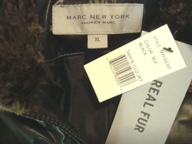 NWT MARC NEW YORK By ANDREW MARC Detachable Hood Real Fur Collar Down Coat Sz XL