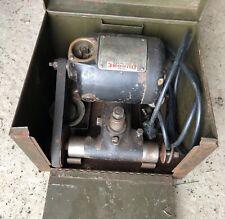 Vintage Dumore 44 Tool Post Grinder With Case Amp Accessories