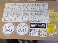 Farmall Mcmormick Deering Model M Decal Set. 1939-1944. C-details