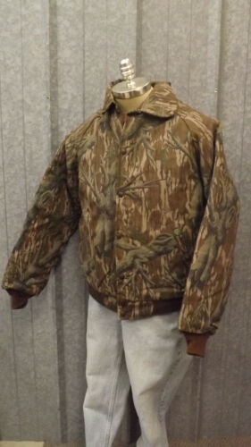 Vtg NEW Mossy Oak Original Tree Stand Camo Quilted Cotton Jacket sz Lrg USA Made