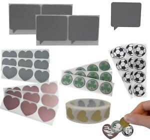 Label etichette Scratch off modello gratta e vinci adesivi speciali da graffiare