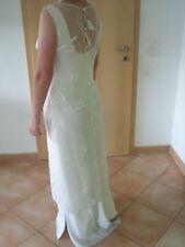 Rembo Brautkleid Hochzeitskleid ärmellos schlicht Gr.38/40 mit transp. Überwurf