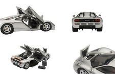 MCLAREN F1 SILVER WITH OPENINGS 1/43 DIECAST CAR MODEL BY AUTOART 56001