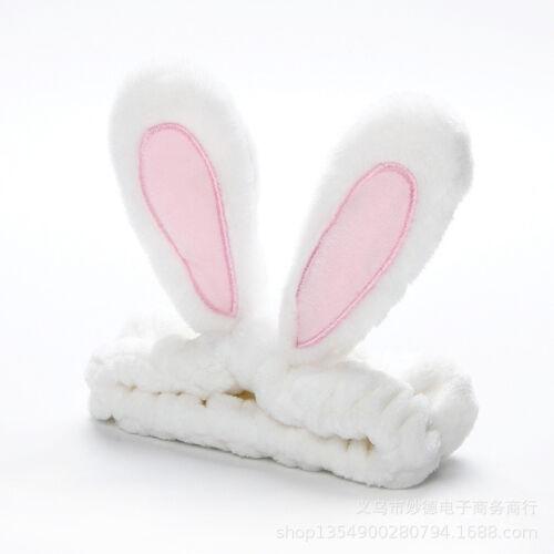 Women/'s Spa Bath Rabbit Ears Hairband Makeup Wash Face Holder Hair Band Headwear