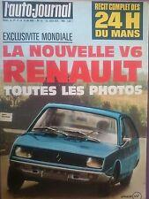 L'AUTO JOURNAL 1973 11 24H DU MANS PEUGEOT 504 L RENAULT 23 TRIUMPH TR6 MONICA