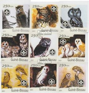 Guinea-bissau Hearty Guinea-bissau 1428b-1436b Unmounted Mint Never Hinged 2001 Birds Easy To Repair Stamps
