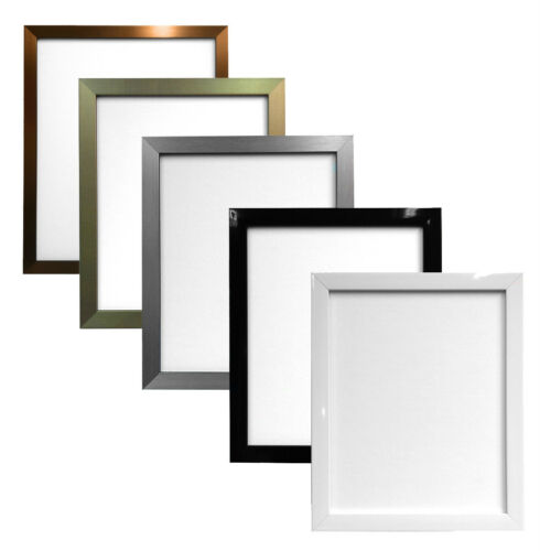Quality Gloss Black White Gold Silver Bronze Picture Photo Frames Multiple Sizes