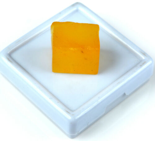 Yellow Sapphire Natural Gemstone Rough Cube//Square Shape African 30 Carat