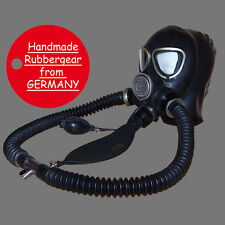 Latex Rubber Gas Mask - Latexmaske Gasmaske - made to measure - Typ: p15