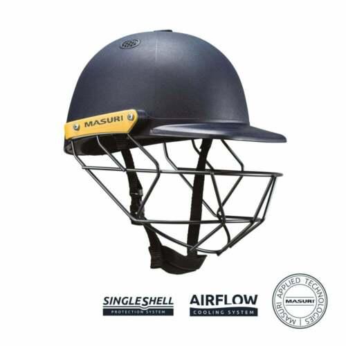 Masuri C Line Steel JUNIOR Cricket Batting Helmet Navy