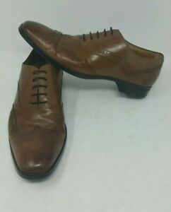 SPECIAL-HUGO-BOSS-Brown-Leather-Captoe-Mens-Oxford-Dress-Formal-Casual-Size-7