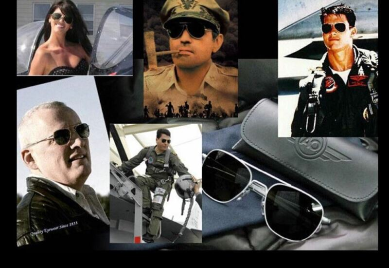 Army Military Ao Pilot 54mm Sunglasses American Optical With Box Free Shipping
