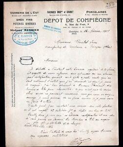COMPIEGNE-60-VERRERIES-FAIENCES-VERRERIE-DE-L-039-EST-034-P-BARDOUX-034-en-1924