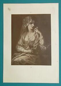 VESTAL-VIRGIN-after-Angelica-Kaufmann-1904-Art-Nouveu-Era-Print