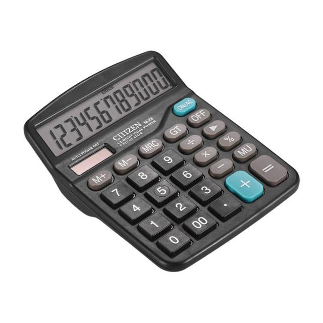 12 Digital Desktop Calculator Basic Office Business Home Solar Big Large Dis A#S