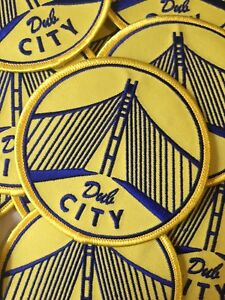 GOLDEN STATE WARRIORS BLUE /& YELLOW EMBROIDERED IRON ON PATCHES 3 X 3