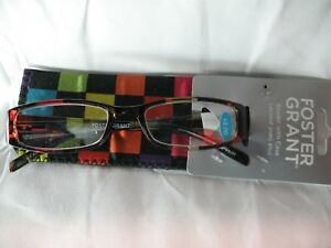 7b2614836b1 Image is loading Foster-Grant-Confetti-Multicolor-Reading-glasses-with-Case-