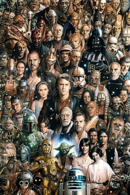 Maxi Poster 61cm x 91.5cm new and sealed Star Wars Characters