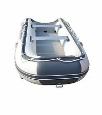 Gray 8.9ft Inflatable Boat Dinghy Raft Pontoon Rescue Dive Raft Fishing Boat