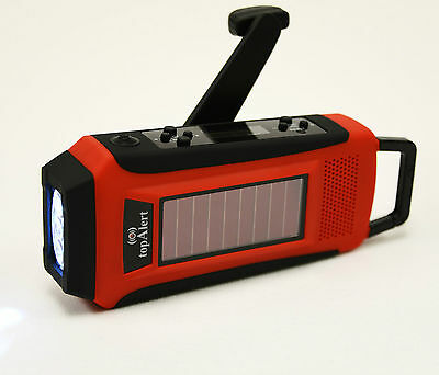 LCD Emergency Survival Solar Hand Crank Self Powered AM/FM/WB/NOAA Digital Radio