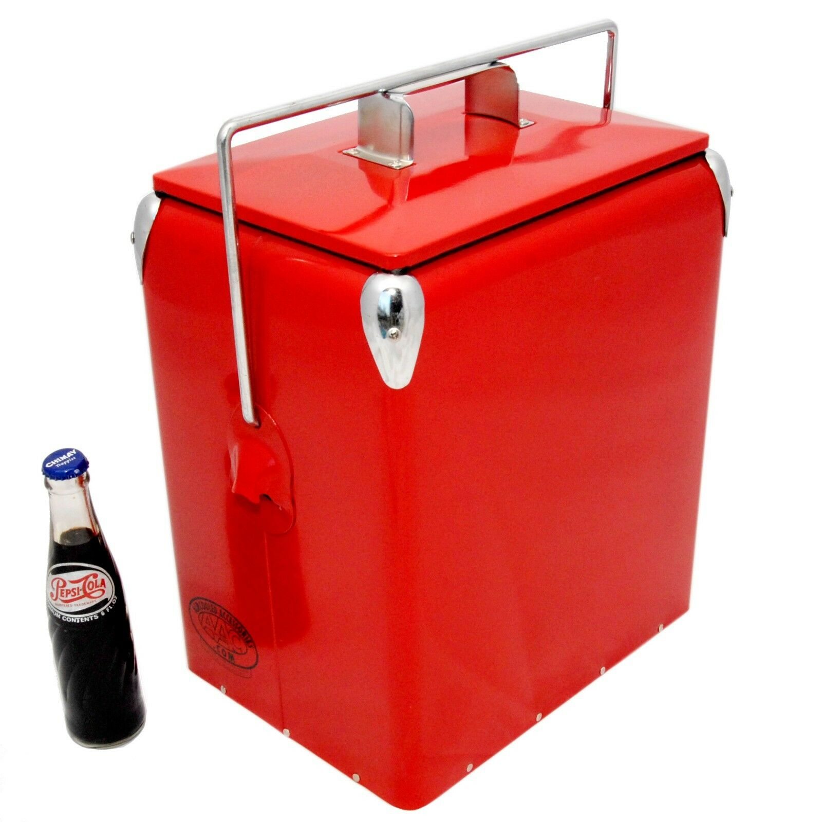 Retro Cool Box Monochrome rot Cooler 17L Vintage Cooler Wedding Gift AAC
