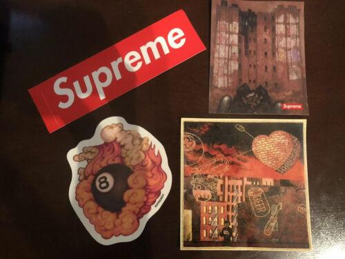 Supreme FW19 Martin Wong 8 Ball  Estate Sticker Pack With Red Box Logo Bogo Lot