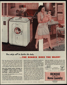 Image Is Loading 1947 BENDIX Automatic Home Washing Machine Mom Amp