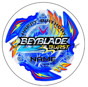 Beyblade-Burst-Personalised-Edible-Kids-Party-Cake-Decoration-Topper-Round-Image