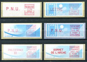 Briefmarken Frankreich Interessante Postfrische Partie Atm `s ........................2/3075 Automatenbriefmarken